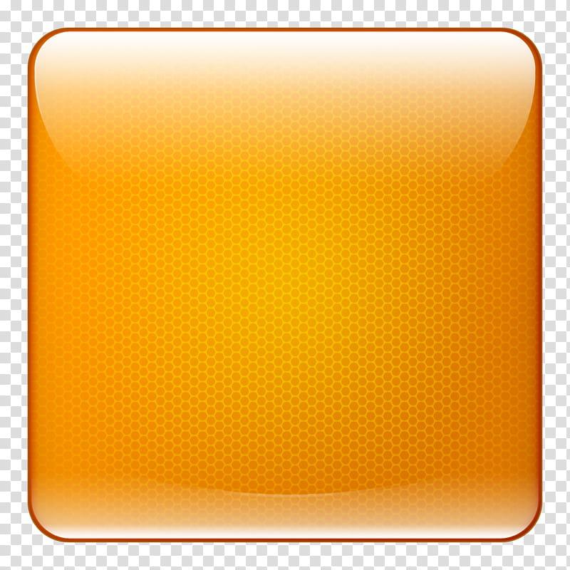 Shiny Buttons, square orange logo illustration transparent.