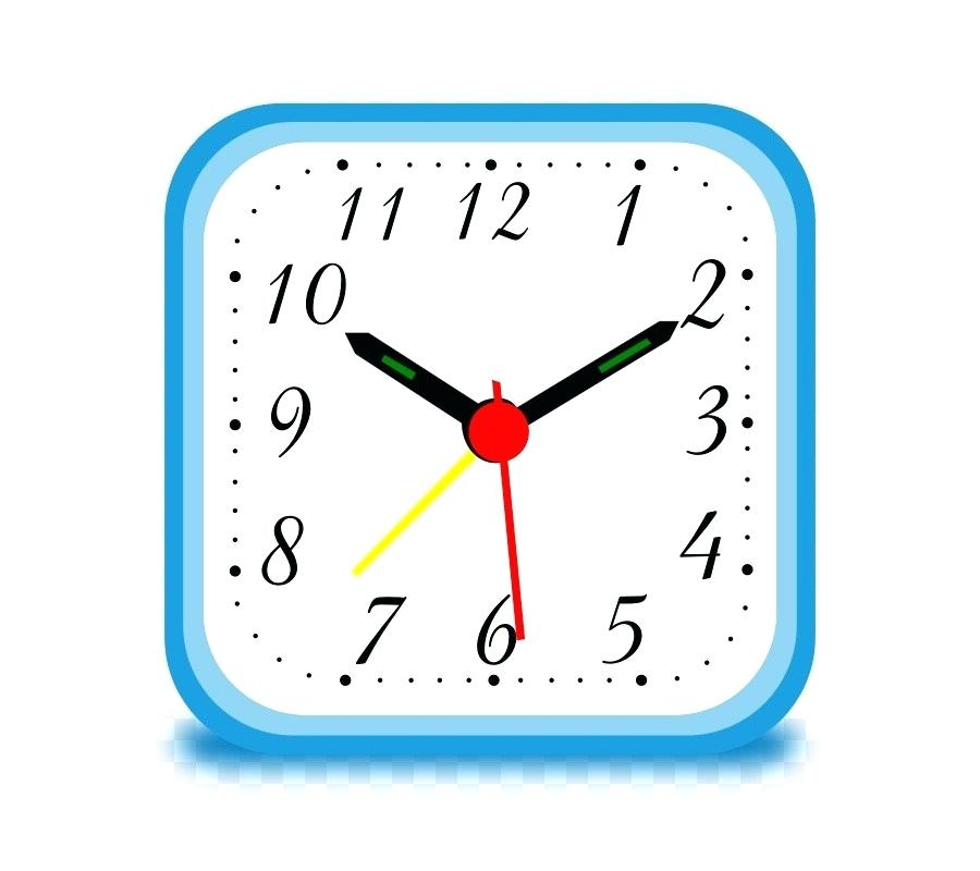 Square Clock Alarm Clocks Point Face Stencil Clipart Paper Dials.