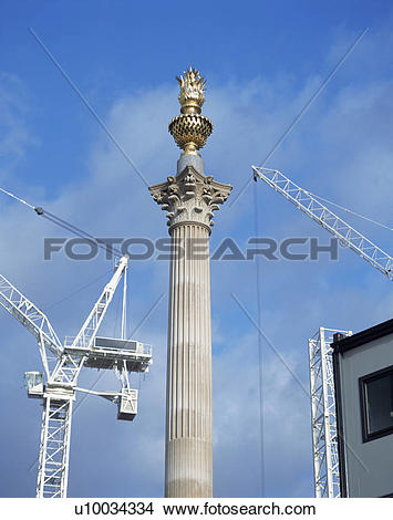 Stock Photo of Paternoster Square under construction with new.
