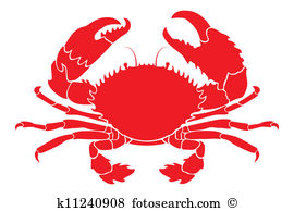 Red crab Clip Art Vector Graphics. 1,268 red crab EPS clipart.