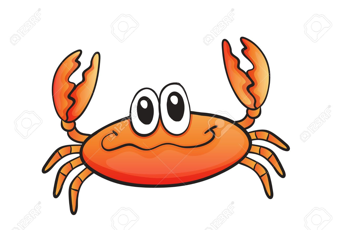 Clipart Crabs With Blue Background.