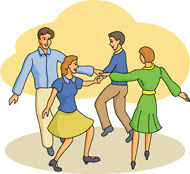 Square Dancing Clipart Free.