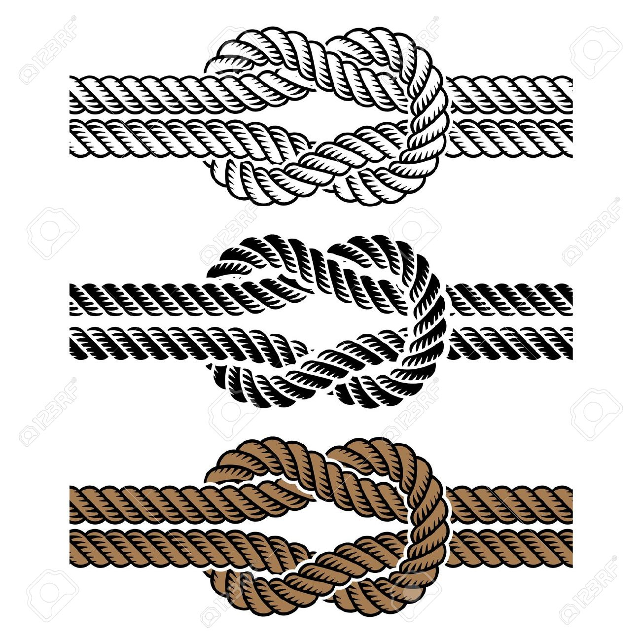 Square knot clipart.