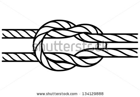 Square Knot Stock Images, Royalty.