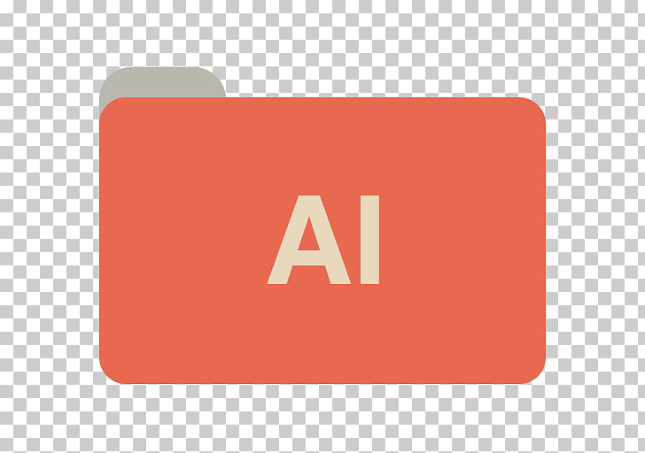 Square text brand sign, AI, red card with AI text overlay.