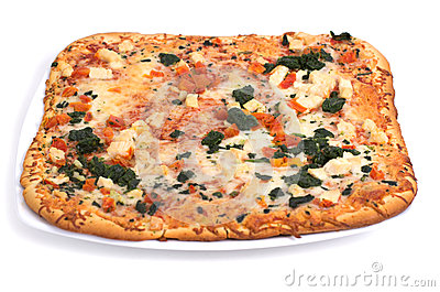 Slice Of Square Pizza Stock Photos.