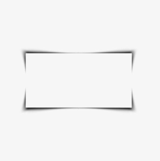 Square Border, Black, Shadow, Simple PNG Transparent Image.
