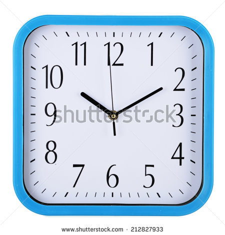 Square Wall Clock Stock Images, Royalty.