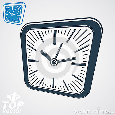 Black Simple Clock Stock Vector.
