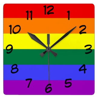 Square Wall Clock Clipart.