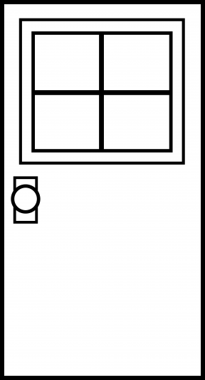 Clipart Empty Room With Window Outline.
