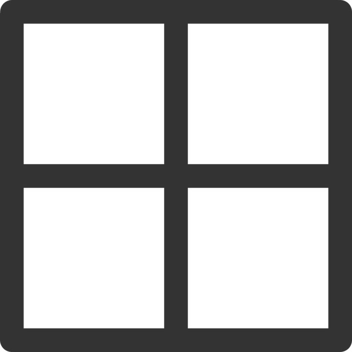 Free vector graphic: Window, Table, Squares, Computing.