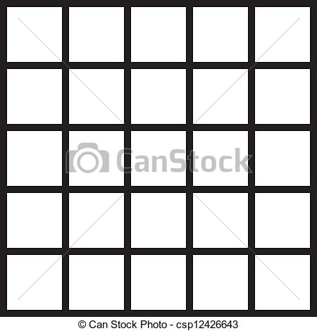 EPS Vector of Square fence or window element csp12426643.