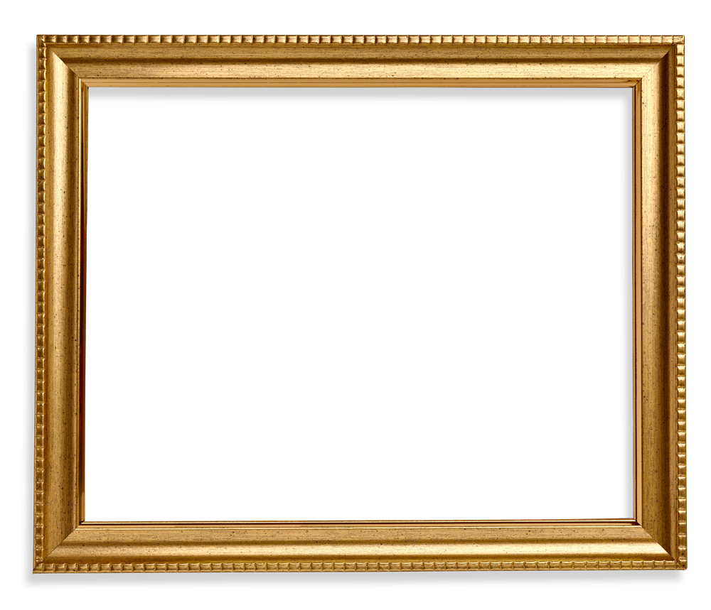 Square Frame Png Wood Gold.
