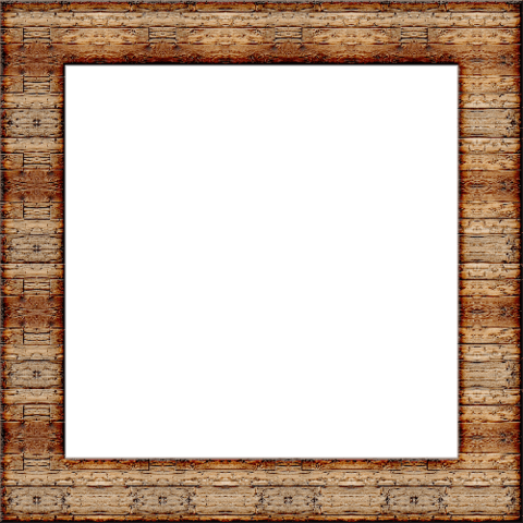 Wood Square Picture Frame.