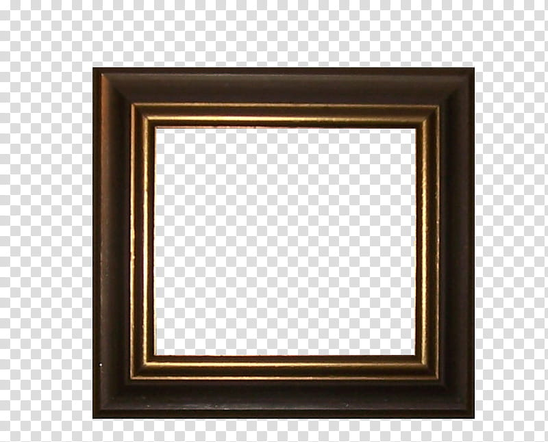 Frames, square brown wooden frame art transparent background.