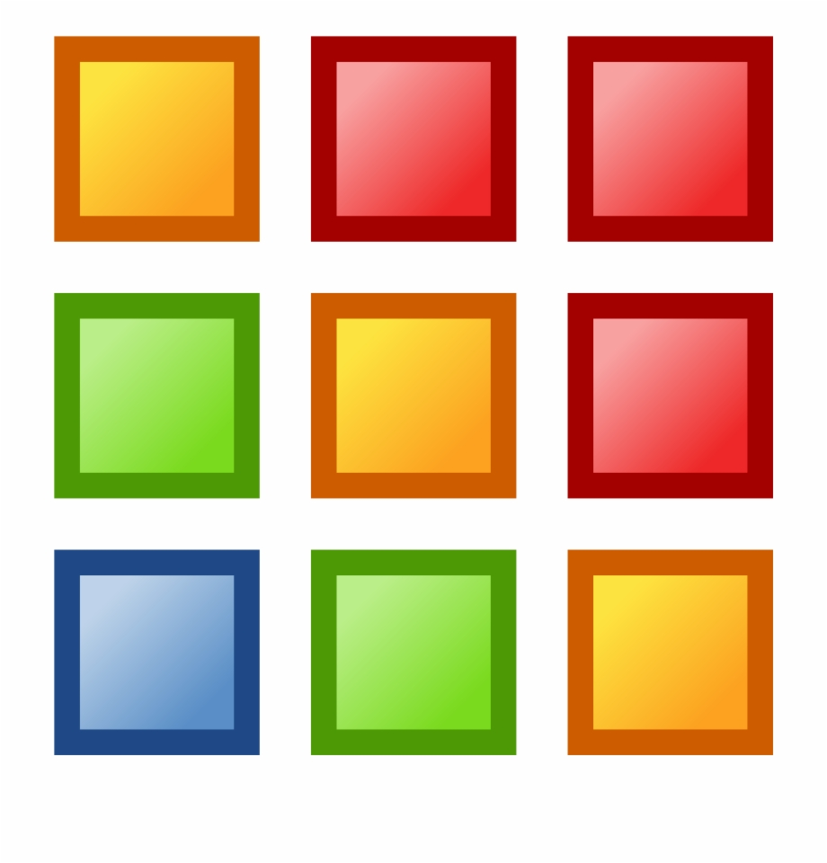 Squares Clipart Colored.