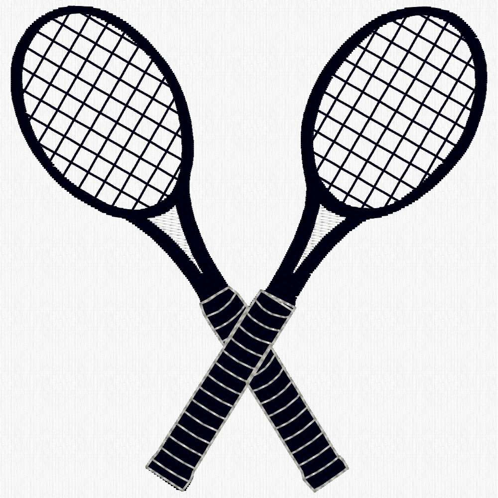 Crossed Tennis Rackets.