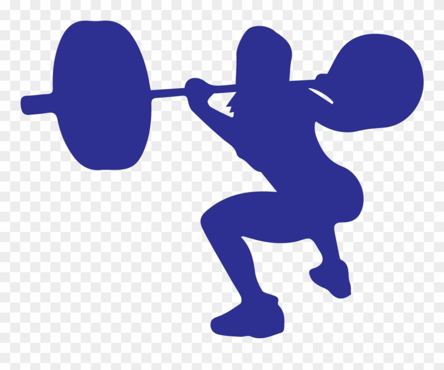 Weightlifting Squat Clipart.