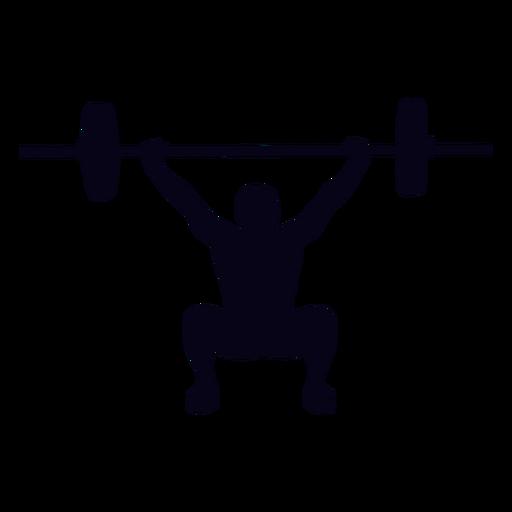 Overhead squat crossfit silhouette.