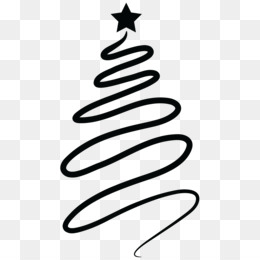 Free download Christmas Tree Line Drawing png..