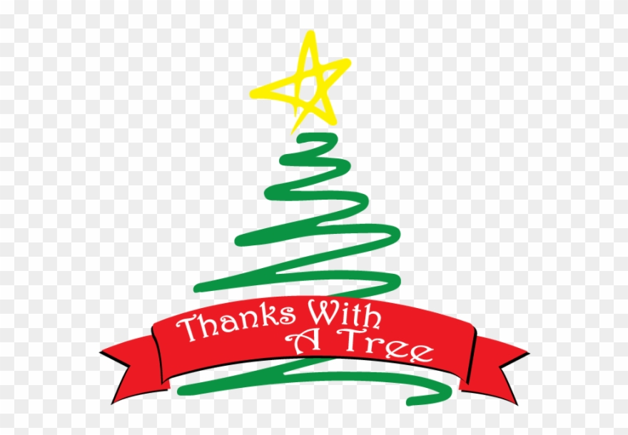 Squiggle Christmas Tree Clip Art.