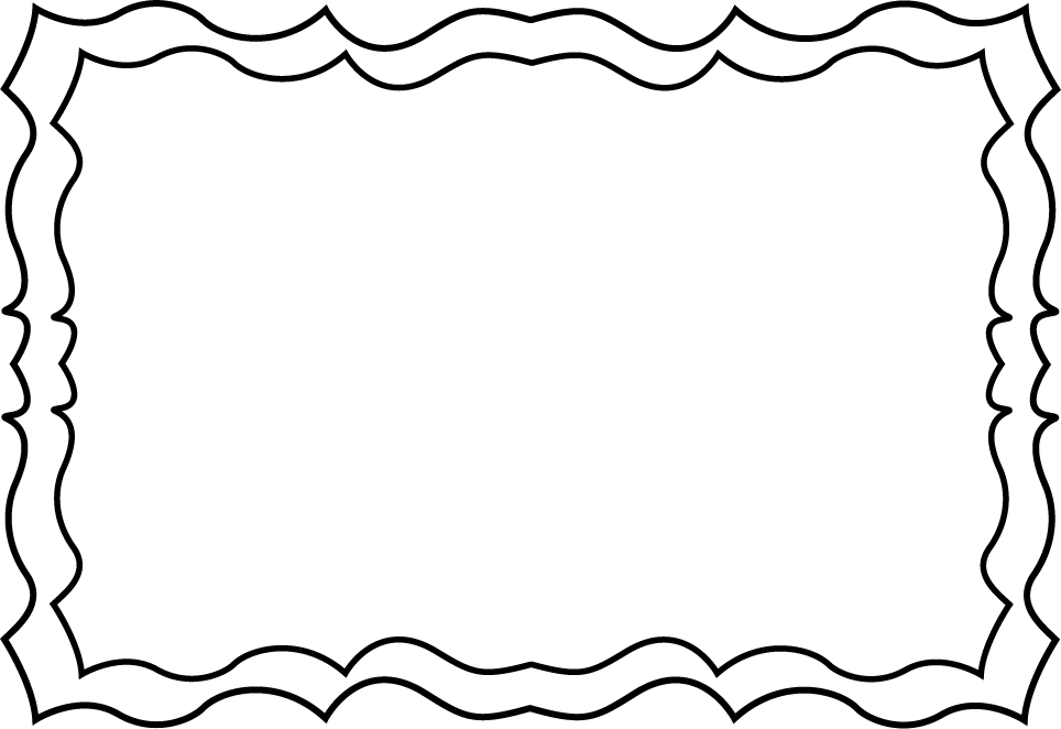 Black and White Squiggly Frame.
