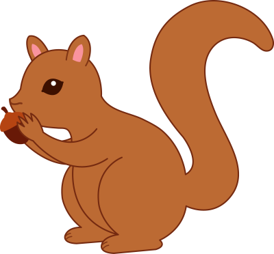 clipart of squirrels #3