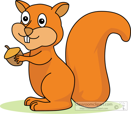 Squirrel in tree clipart.