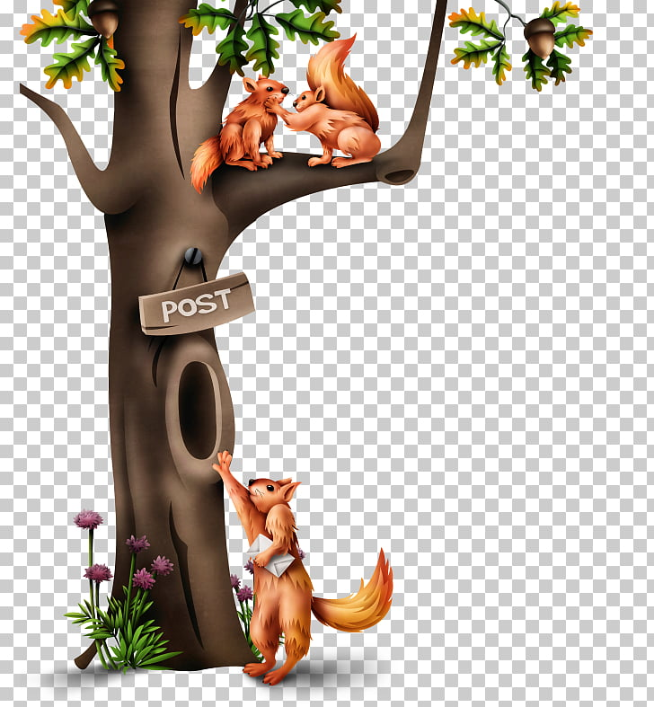 Tree hollow Tree squirrels, tree PNG clipart.