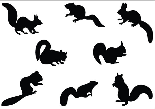 Squirrel Silhouette Clip Art.