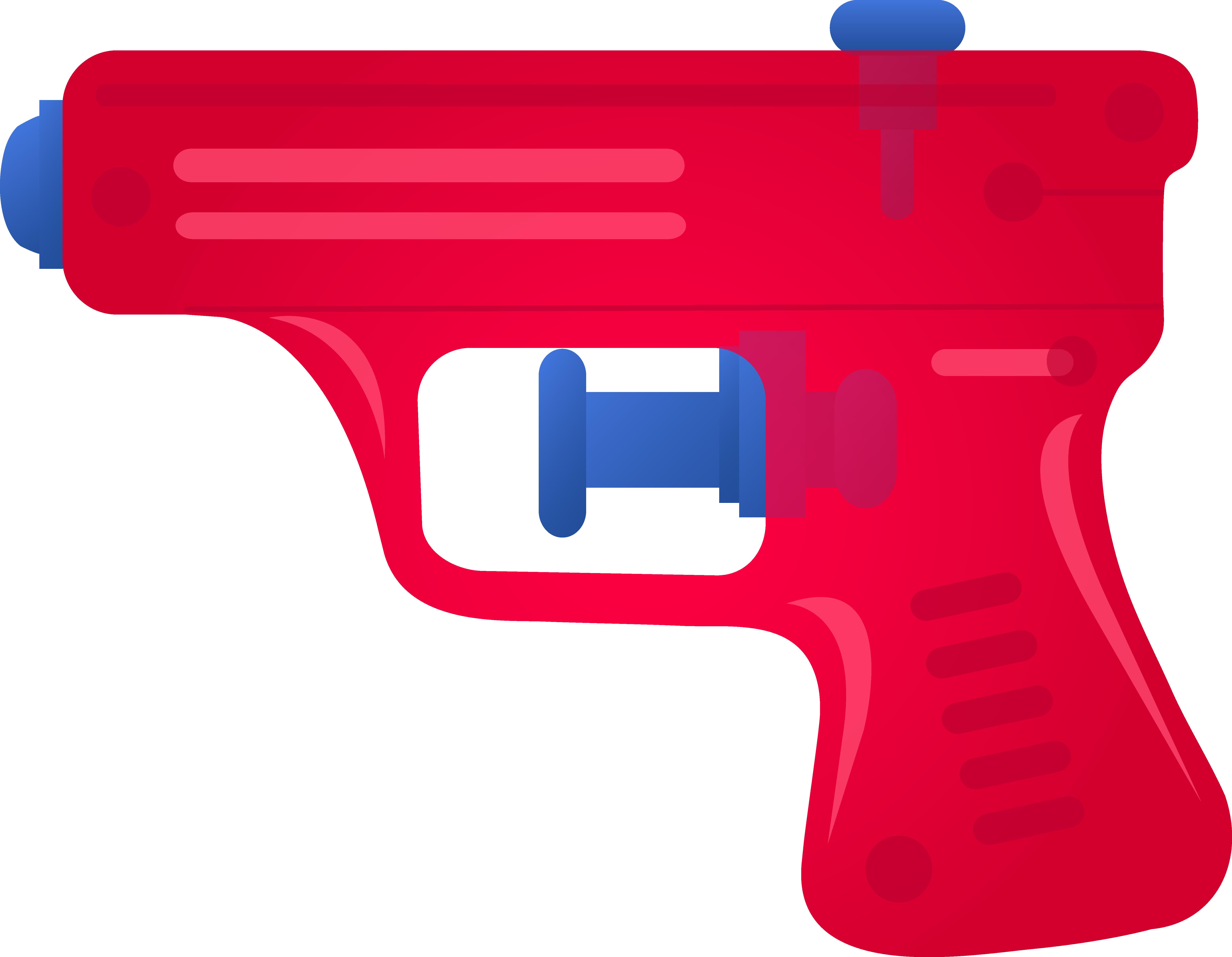 Red Toy Squirt Gun.