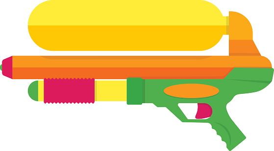 Water Gun Clip Art, Vector Images & Illustrations.