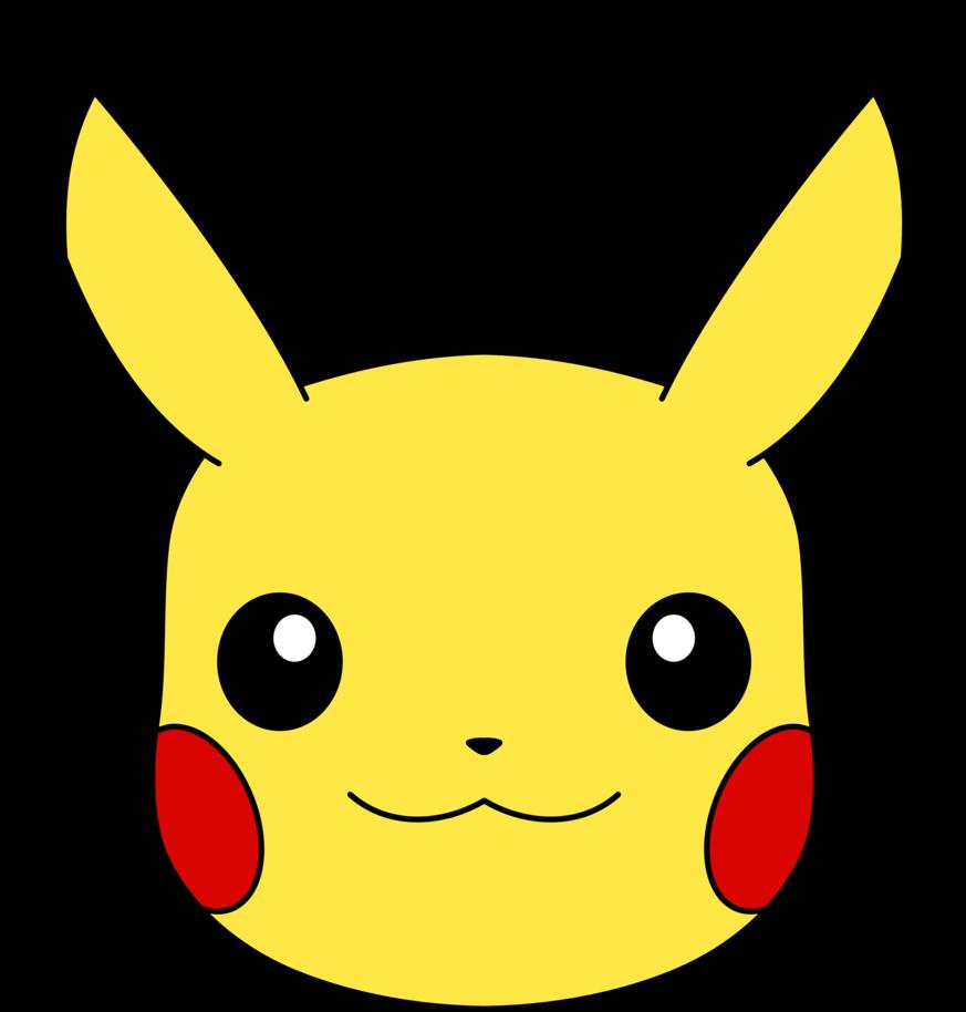 Pikachu Face Clipart.