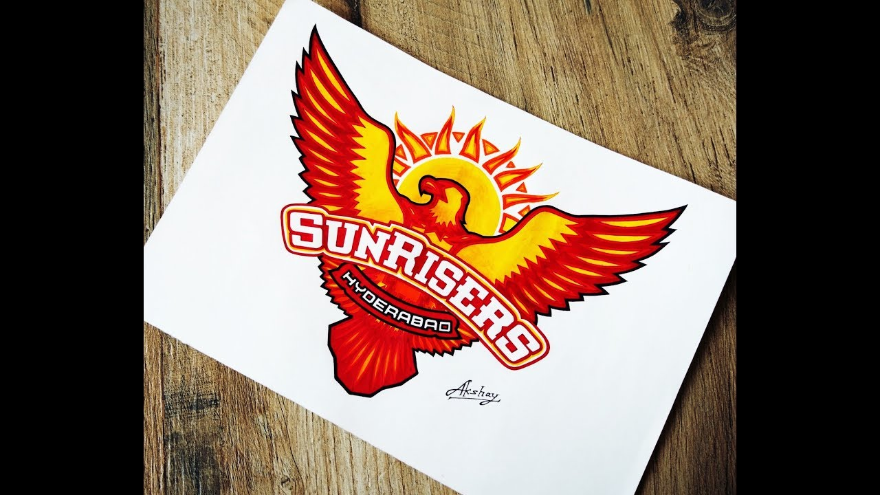 How To Draw Sunrisers Hyderabad Logo.