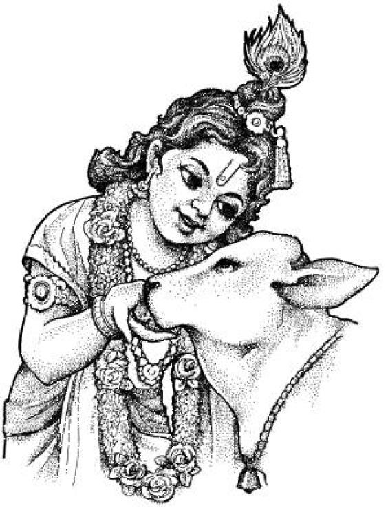 Shri radha krishna clipart.