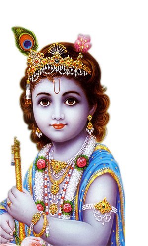 God Krishna PNG Lord Krishna Transparent Image.