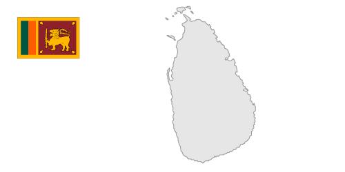 Sri lanka map clipart.