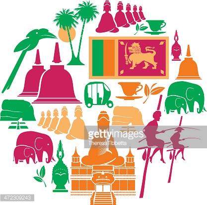 Sri Lankan Culture Vector Art And Graphics.