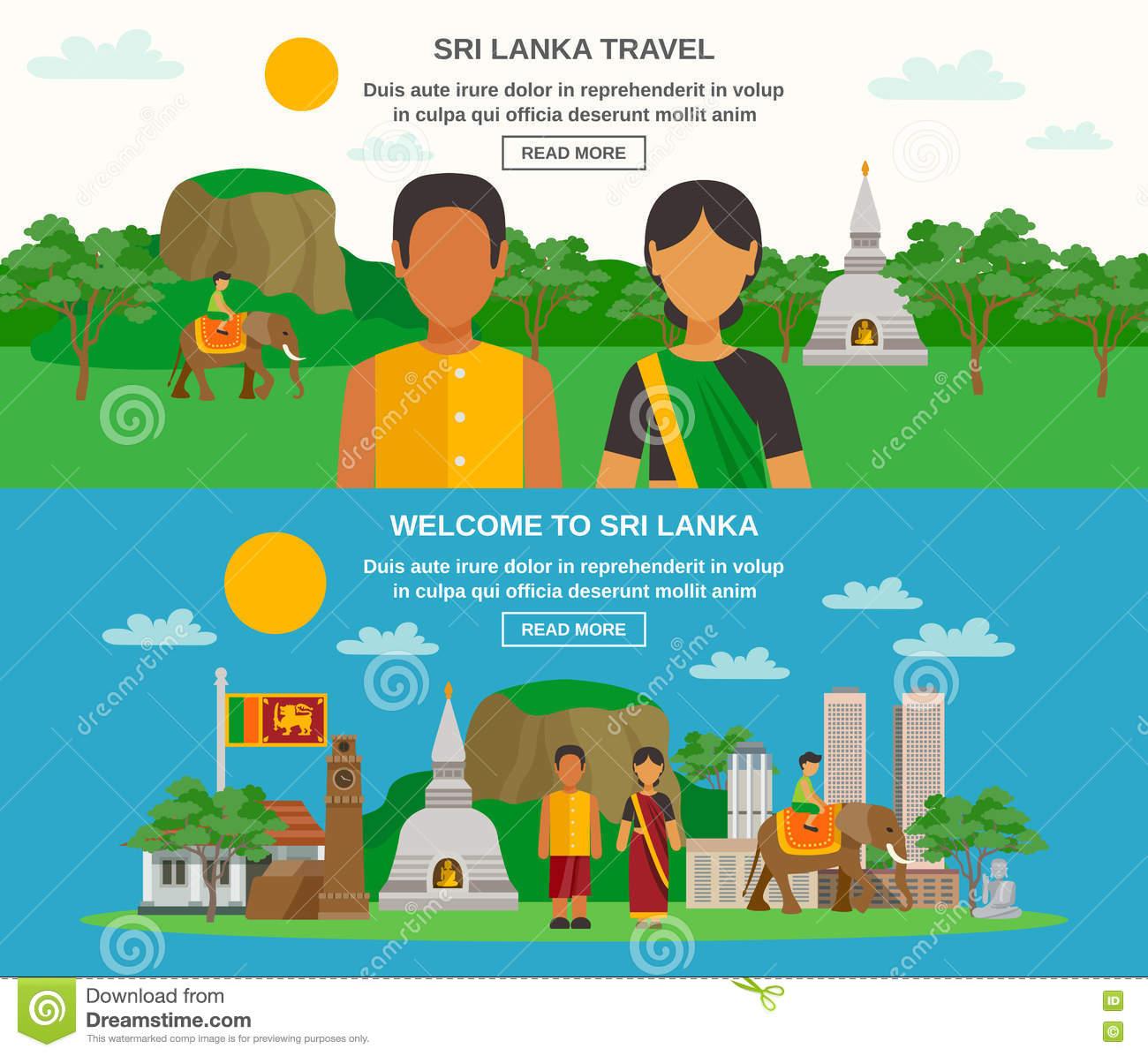 Sri Lanka Culture Stock Vector.
