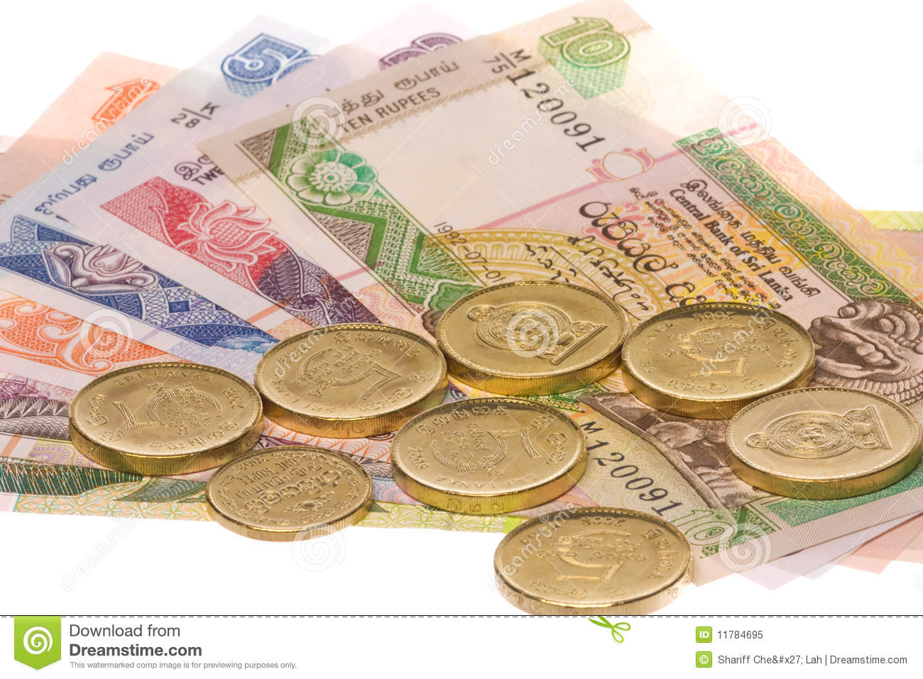 Sri Lankan Currency Isolated Royalty Free Stock Image.
