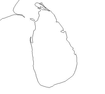 Blank Outline Map of Sri Lanka — Schools at Look4.