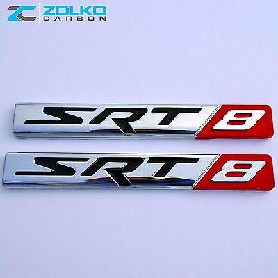 SRT8 LOGO 3D Emblem Badge Sticker Decal Metal Chrome EE05.