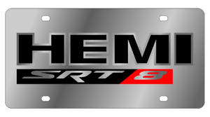 Details about Dodge HEMI SRT8 Mirror Polished 3D Finish Logo Stainless  Steel License Plate.