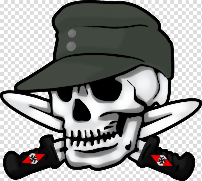 Skull and knives illustration, 3rd SS Panzer Division.