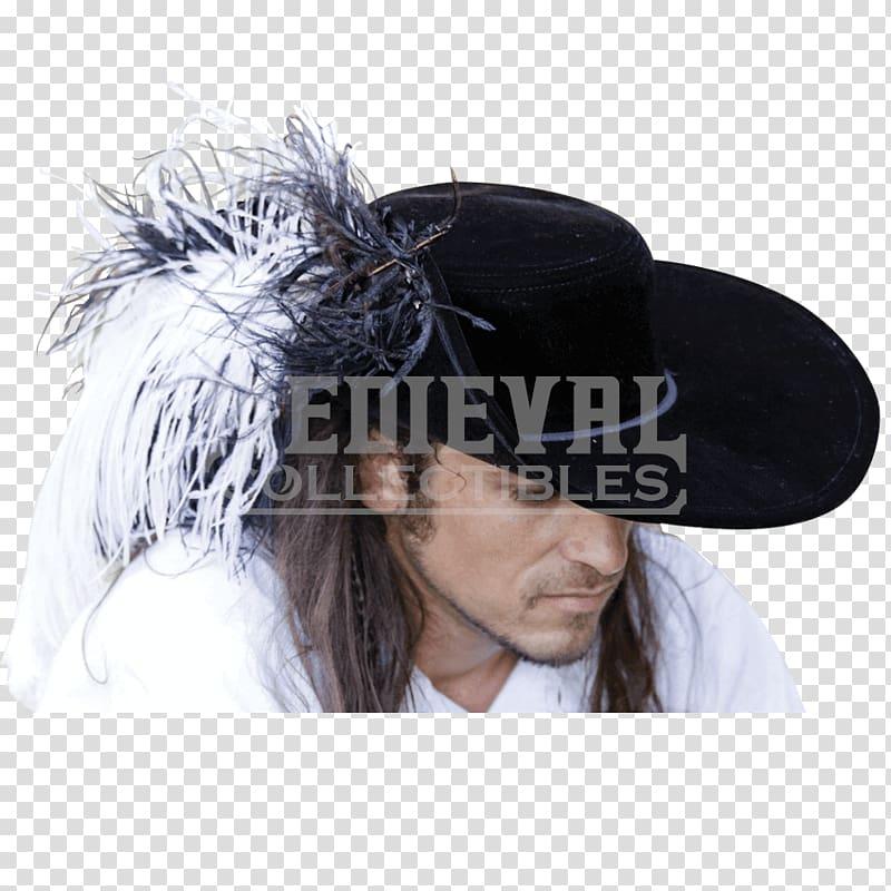 Renaissance Headpiece Cavalier hat Cap, Ss hat transparent.