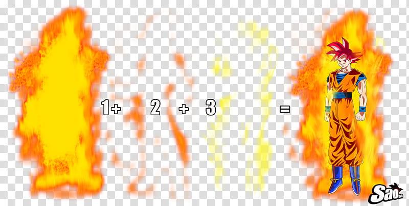 KI SSG Fire Molde, San Goku illustration transparent.