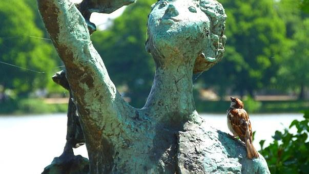 Statue, Animals.