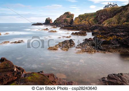 Stock Photo of St Abbs, Scotland.