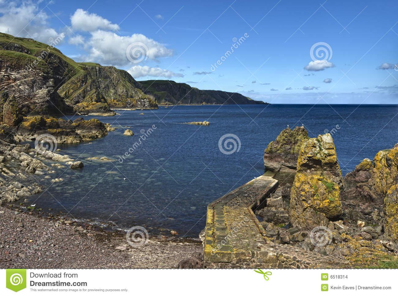 Pettico Wick, St Abbs Head, Berwickshire, Scotland Stock Images.